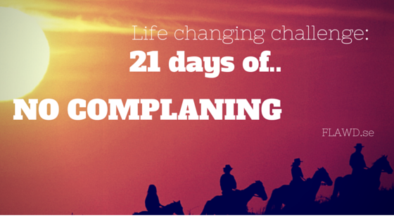 The 21-day no-complaint challenge